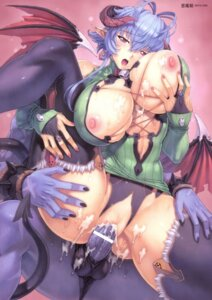 Rating: Explicit Score: 36 Tags: breast_hold breasts cum devil mogudan nipples no_bra open_shirt penis pussy sex tail thighhighs wings User: kiyoe