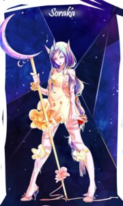 Rating: Safe Score: 25 Tags: animal_ears dress heels horns league_of_legends no_bra soraka tattoo weapon xiao_jian User: Anemone