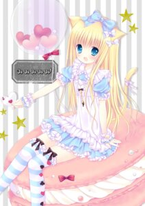 Rating: Safe Score: 31 Tags: animal_ears lolita_fashion mizuse_ruka nekomimi tail thighhighs User: 椎名深夏