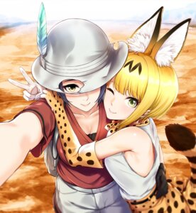 Rating: Safe Score: 10 Tags: animal_ears cleavage cosplay hayami_kanade infinote kaban_(kemono_friends) kemono_friends miyamoto_frederica serval tail User: Mr_GT