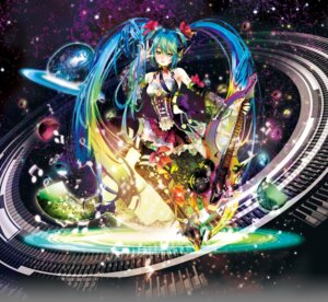 Rating: Safe Score: 14 Tags: cleavage guitar hatsune_miku headphones mikimoto_haruhiko thighhighs vocaloid User: Mr_GT