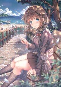Rating: Safe Score: 78 Tags: jun&yuri kantai_collection neko seifuku shigure_(kancolle) sweater yuriko_(jun&yuri) User: BattlequeenYume