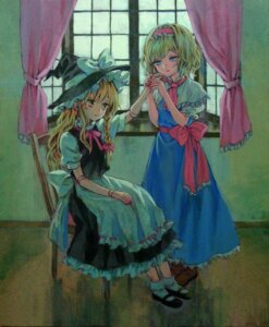 Rating: Safe Score: 10 Tags: alice_margatroid ama-tou kirisame_marisa touhou User: Nekotsúh