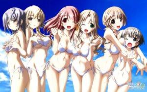 Rating: Questionable Score: 65 Tags: ashita_no_kimi_to_au_tame_ni bikini breast_grab cleavage fujisaki_asahi izumi_saya kurashima_tomoyasu nanami_mina swimsuits tsukino_mai wakamiya_asuka wallpaper yuugiri_ruriko User: petopeto