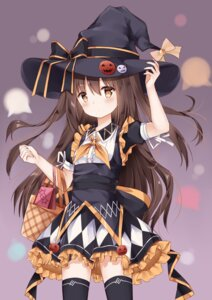 Rating: Safe Score: 29 Tags: dress fuyuki030 halloween thighhighs witch User: sym455