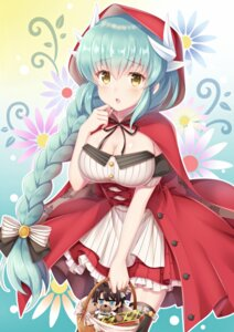 Rating: Safe Score: 24 Tags: animal_ears big_bad_wolf chibi cleavage cosplay dress fate/grand_order garter horns kiyohime_(fate/grand_order) little_red_riding_hood_(character) suzumia_(daydream) thighhighs User: Mr_GT