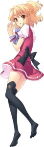 Rating: Safe Score: 22 Tags: flyable_heart ito_noizi seifuku sumeragi_amane thighhighs unisonshift User: fireattack