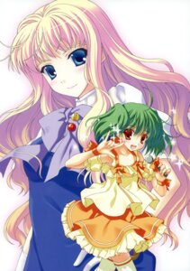 Rating: Safe Score: 14 Tags: dress macross macross_frontier nanao_naru ranka_lee sheryl_nome thighhighs User: crim