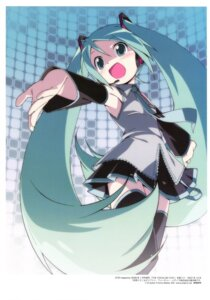 Rating: Safe Score: 27 Tags: hatsune_miku headphones kanzaki_hiro thighhighs vocaloid User: Anonymous