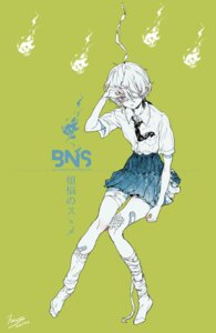 Rating: Questionable Score: 7 Tags: bandages bandaid eyepatch megane miri_nanase seifuku smoking tagme User: Anemone