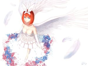 Rating: Safe Score: 31 Tags: 5-toubun_no_hanayome cleavage dress heels nakano_yotsuba no_bra shigatsu wedding_dress wings User: yanis