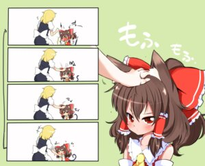 Rating: Safe Score: 26 Tags: animal_ears chibi hakurei_reimu kirisame_marisa nekomimi tail touhou yasuda User: Radioactive