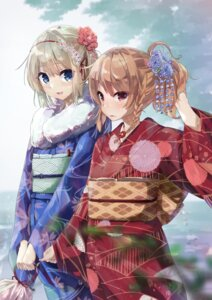 Rating: Safe Score: 32 Tags: alice_margatroid dendenmushi kimono kirisame_marisa touhou User: Mr_GT