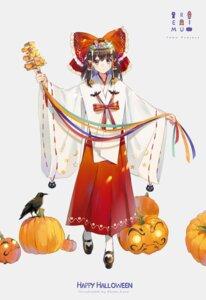 Rating: Safe Score: 29 Tags: ekita_xuan hakurei_reimu halloween miko touhou User: RyuZU