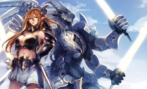 Rating: Safe Score: 38 Tags: armor bikini_armor cleavage horns kyouya monster pointy_ears sword User: Mr_GT