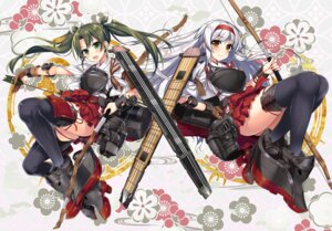 Rating: Safe Score: 21 Tags: armor kantai_collection raiou shoukaku_(kancolle) thighhighs weapon zuikaku_(kancolle) User: fairyren