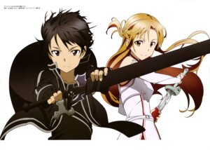 Rating: Safe Score: 25 Tags: adachi_shingo asuna_(sword_art_online) kirito sword_art_online User: drop