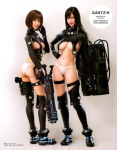 Rating: Questionable Score: 57 Tags: ass cg cleavage gantz garter gun no_bra pantsu possible_duplicate shimohira_reika thighhighs User: herolulu