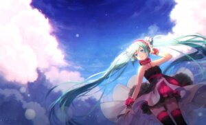 Rating: Safe Score: 76 Tags: 7th_dragon_2020-ii dress hakusai hatsune_miku headphones thighhighs vocaloid User: Mr_GT