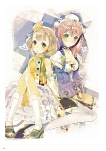 Rating: Safe Score: 20 Tags: atelier atelier_escha_&_logy cleavage digital_version escha_malier hidari jpeg_artifacts lucille_ernella thighhighs User: Shuumatsu