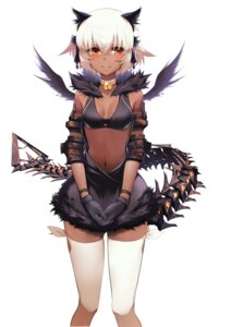Rating: Questionable Score: 111 Tags: black_rock_shooter cleavage rogia strength tail thighhighs vocaloid wings User: tbchyu001