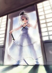 Rating: Safe Score: 10 Tags: dress konpaku_youmu nanaroku summer_dress touhou User: Mr_GT