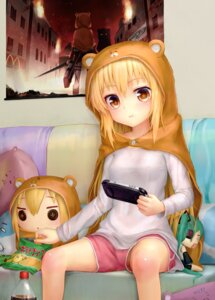 Rating: Safe Score: 65 Tags: aki99 doma_umaru hatsune_miku headphones himouto!_umaru-chan sword vocaloid User: Mr_GT
