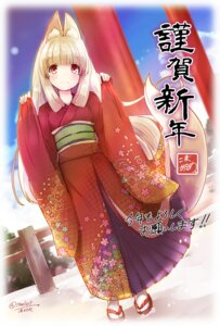Rating: Safe Score: 39 Tags: animal_ears kimono kitsune maszom tail User: Mr_GT