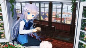 Rating: Safe Score: 50 Tags: gochuumon_wa_usagi_desu_ka? jan_(artist) kafuu_chino User: blooregardo