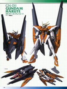 Rating: Safe Score: 9 Tags: character_design gundam gundam_00 gundam_00:_a_wakening_of_the_trailblazer gundam_harute mecha yanase_takayuki User: harimahario