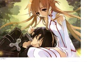 Rating: Safe Score: 23 Tags: asuna_(sword_art_online) ito_noizi kirito sword_art_online thighhighs User: drop