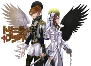 Rating: Safe Score: 5 Tags: esther_blanchett gun kyuujou_kiyo mary_spencer nun sword trinity_blood uniform wings User: Radioactive