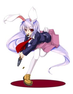 Rating: Safe Score: 11 Tags: animal_ears bunny_ears gun popi reisen_udongein_inaba thighhighs touhou User: charunetra