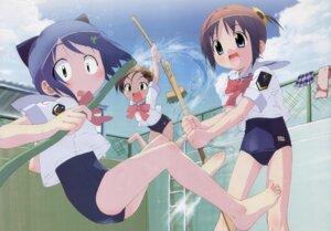 Rating: Safe Score: 11 Tags: amamiya_manami gakuen_utopia_manabi_straight inamori_mika school_swimsuit swimsuits uehara_mutsuki User: Radioactive