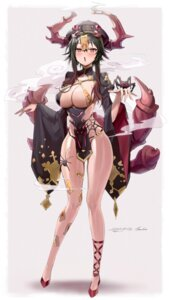Rating: Questionable Score: 36 Tags: bikini_armor freng horns japanese_clothes monster_girl tagme User: Dreista