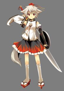 Rating: Safe Score: 16 Tags: animal_ears inubashiri_momiji matsuri_uta sword tail touhou transparent_png User: charunetra