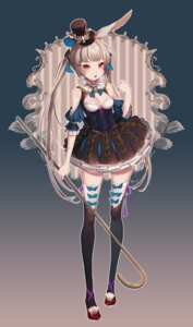 Rating: Safe Score: 47 Tags: 4th animal_ears bunny_ears cleavage dress no_bra thighhighs User: nphuongsun93