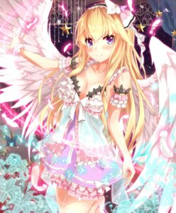 Rating: Safe Score: 94 Tags: cleavage dress takanashie wings User: fairyren