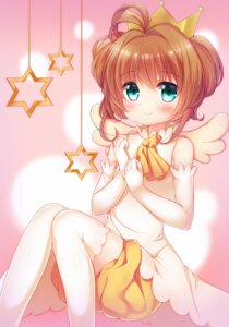 Rating: Safe Score: 30 Tags: bloomers card_captor_sakura kinomoto_sakura natsume_asato thighhighs wings User: Mr_GT