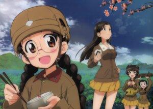 Rating: Safe Score: 26 Tags: fukuda_(girls_und_panzer) girls_und_panzer hosomi_(girls_und_panzer) megane nishi_kinuyo tamada_(girls_und_panzer) uniform User: 1138