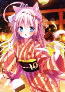 Rating: Safe Score: 32 Tags: animal_ears nekomimi shiromochi_sakura tail yukata User: drop