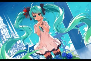 Rating: Safe Score: 56 Tags: baisi_shaonian dress hatsune_miku thighhighs vocaloid world_is_mine_(vocaloid) User: RaulDJ747