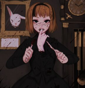 Rating: Questionable Score: 8 Tags: dress extreme_content guro tagme User: Humanpinka