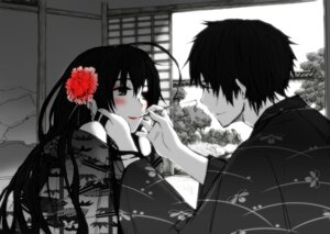 Rating: Safe Score: 40 Tags: hetalia_axis_powers japan kimono monochrome taiwan tsuchii_(ramakifrau) User: mash