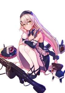 Rating: Safe Score: 37 Tags: cleavage girls_frontline gun heels maid mg4_(girls_frontline) pantyhose ranyu User: Mr_GT