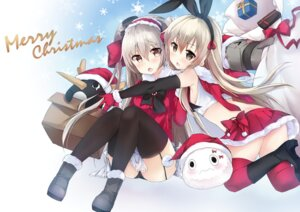 Rating: Safe Score: 47 Tags: amatsukaze_(kancolle) christmas heels kantai_collection pantsu pimemomo rensouhou-chan shimakaze_(kancolle) stockings thighhighs User: Mr_GT