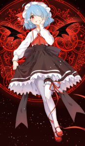 Rating: Safe Score: 47 Tags: blood garter pantyhose poppy_(artist) remilia_scarlet touhou wings User: Mr_GT