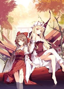 Rating: Safe Score: 176 Tags: blood cleavage dress hakurei_reimu ke-ta miko torn_clothes touhou yakumo_yukari User: Mr_GT