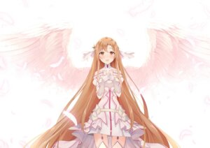 Rating: Safe Score: 35 Tags: armor asuna_(sword_art_online) dress stockings sword_art_online tagme thighhighs wings User: Mr_GT