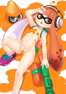 Rating: Questionable Score: 51 Tags: gun headphones inkling_(splatoon) loli megane naked ookami_ryuu pointy_ears splatoon User: Mr_GT